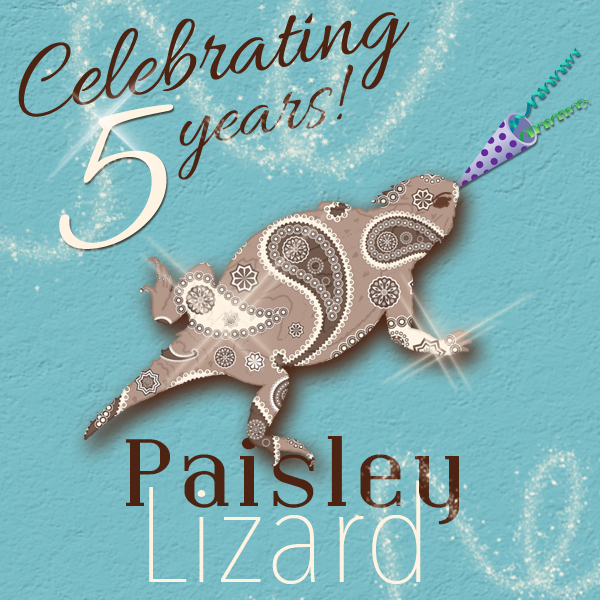 graphic of Paisley Lizard logo with horn