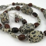 Dalmation Jasper Necklace set