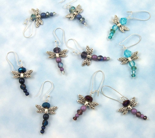 Picture of beaded dragonfly earrings