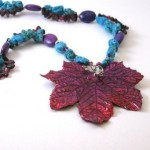 Pink Maple Leaf Necklace