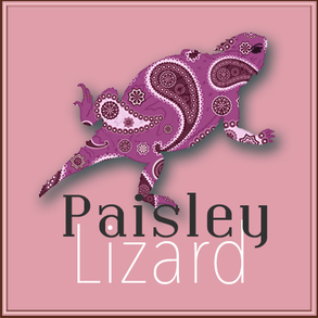 Paisley Lizard logo in radiant orchid pantone color 2014