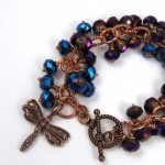 Copper Dragonfly Charm Bracelet