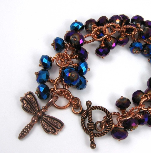 Picture of dragonfly charm bracelet