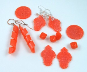 faux glass polymer clay earrings