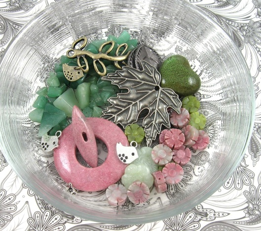glass bowl full of beads