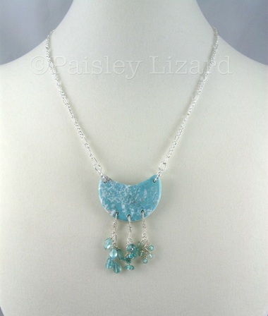 necklace with moon pendant