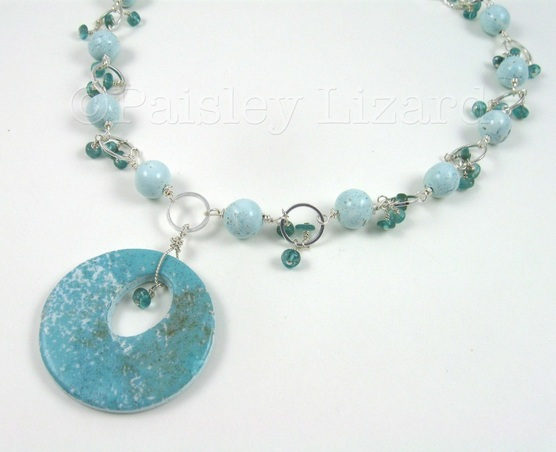 Jewelry Design Challenge water element final necklace