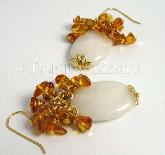 ambrosia beaded dangle earrings