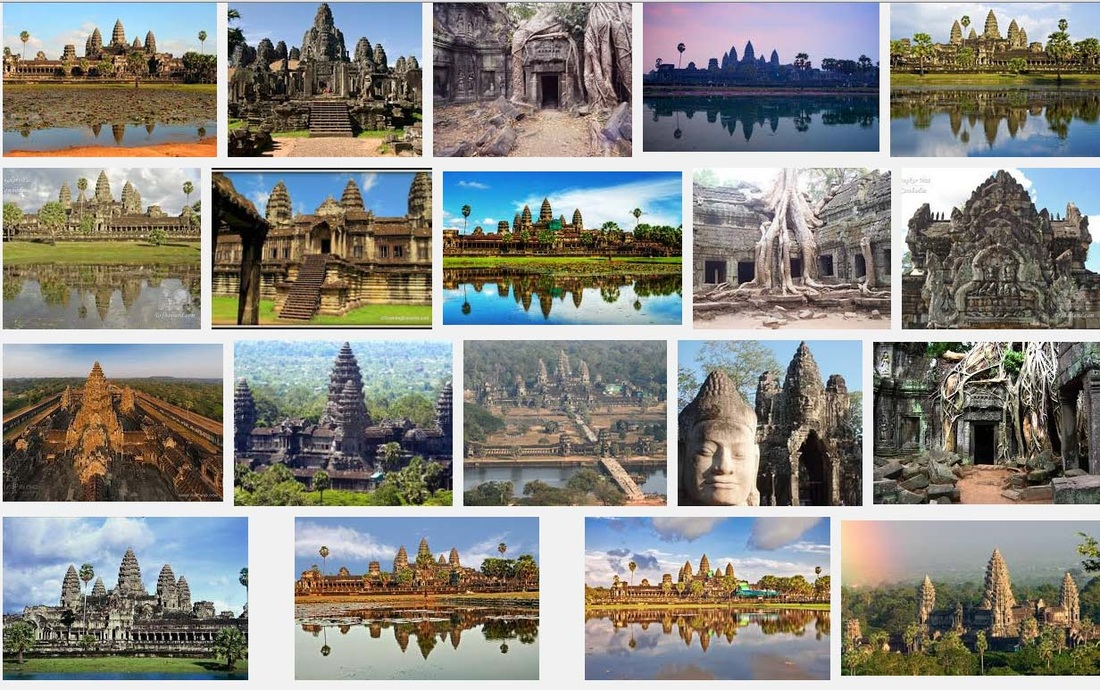 Screen capture of image search results for Angkor Wat
