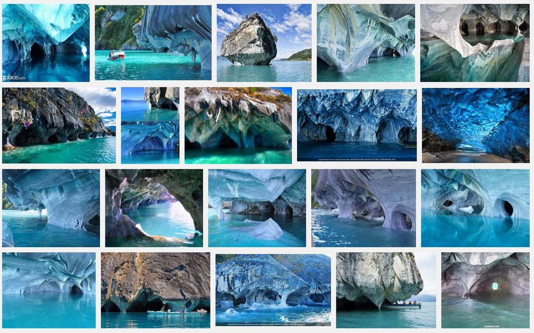 screen shot of image search for Marble Caves