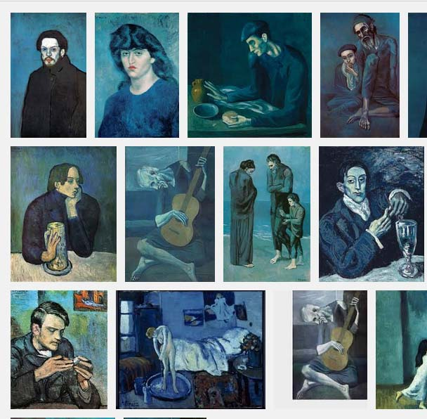 screenshot of image search for Picasso