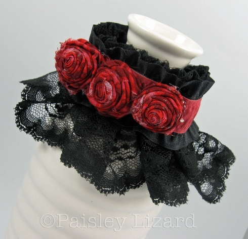 Picture of fabric rose lace cuff