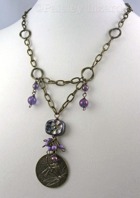 Picture of dragonfly charm necklace