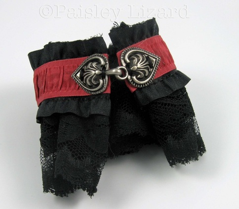 Picture of black lace fabric cuff