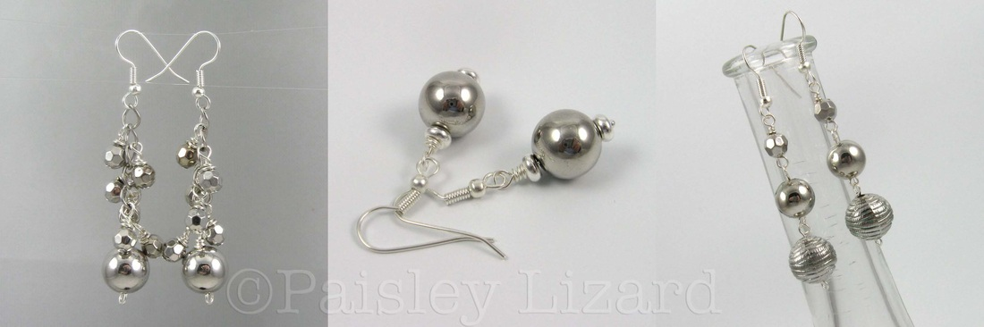 Picture of silver bead earrings
