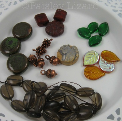 Picture of squirrel bead and assorted beads