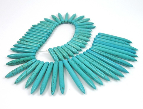 Jewelry Design Challenge Sleeping Beauty turquoise spikes strand
