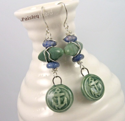 Anchors Aweigh Design Challenge and Blog Hop Stormy Seas Earrings