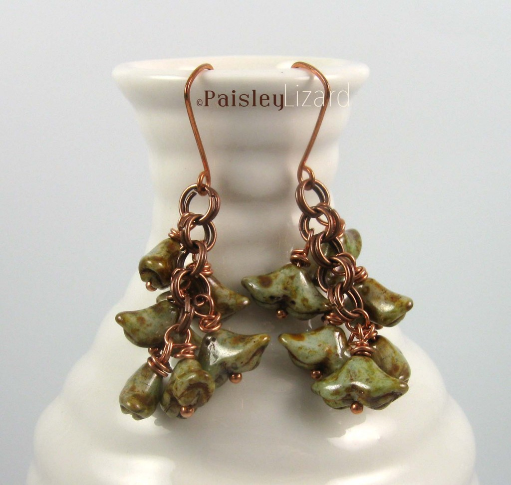 Lichen Drops earrings