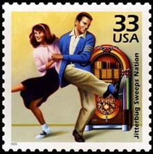 US First Class stamp-jukebox dancers