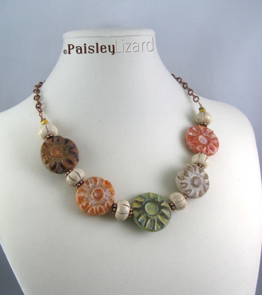 Rustic Fall Flowers Necklace