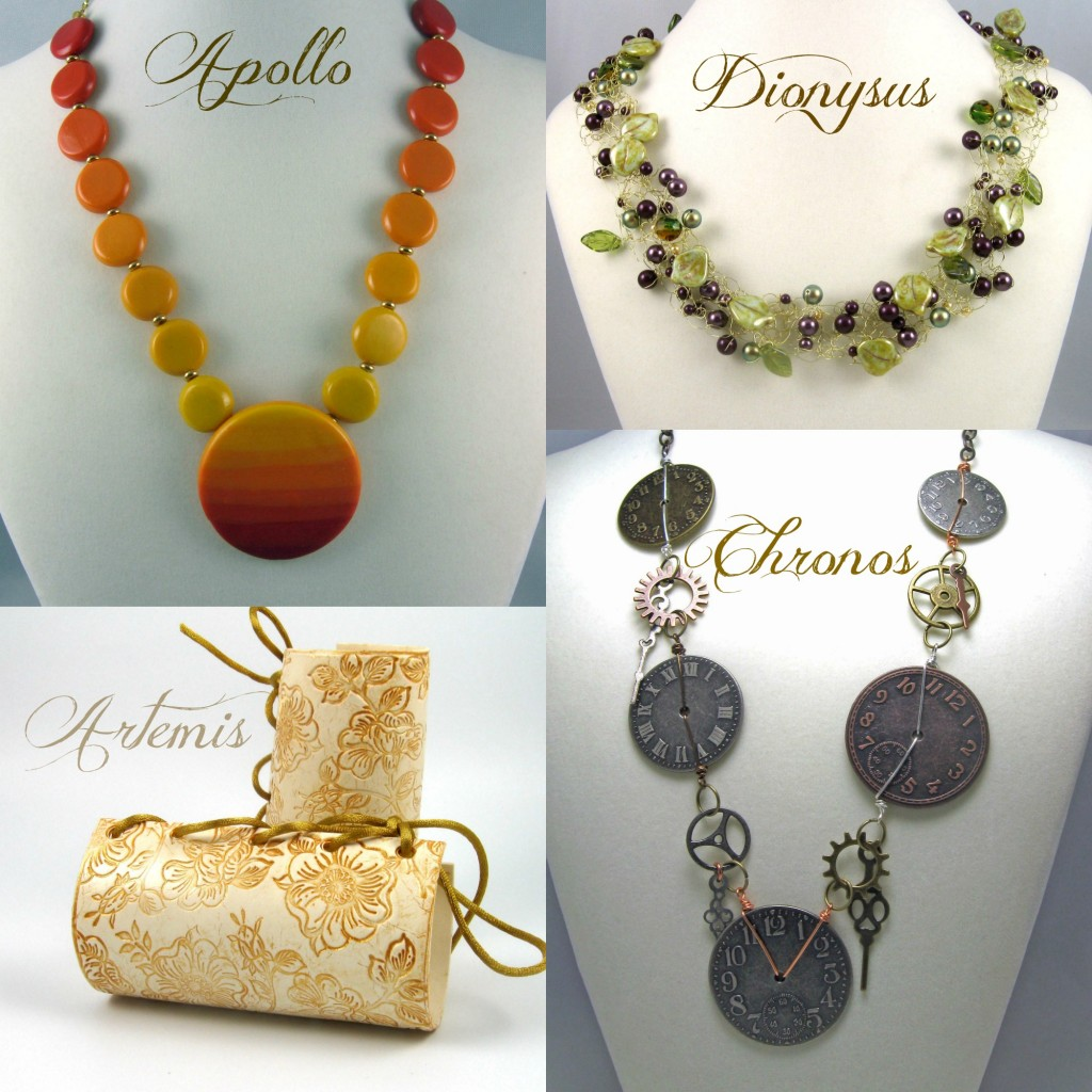 Greek Gods and Goddesses jewelry designs