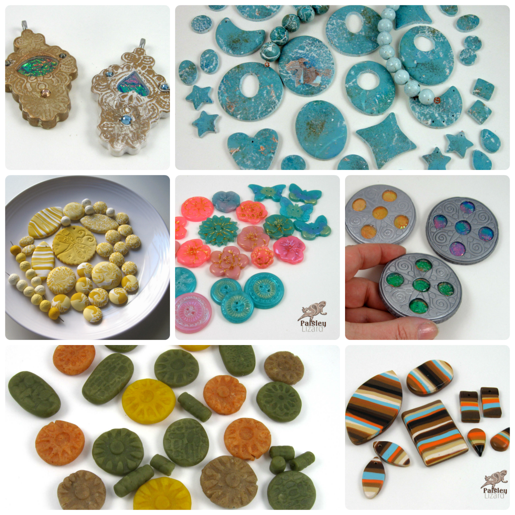 Polymer clay beads and components