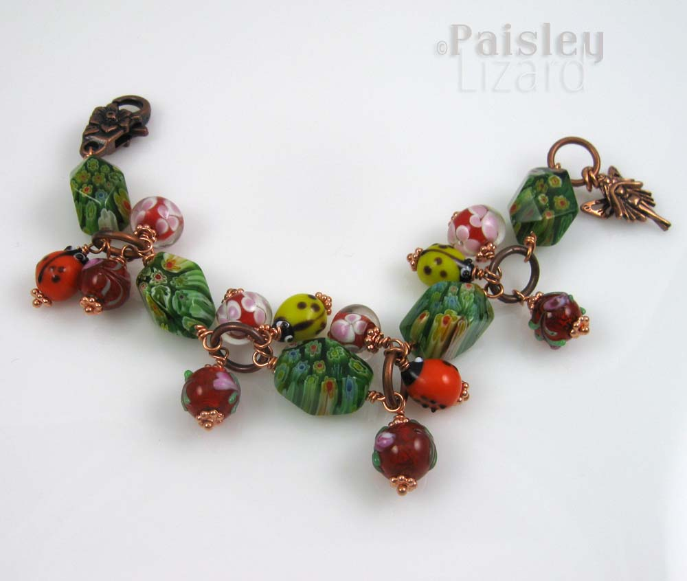 Whimsical fairy flower bracelet