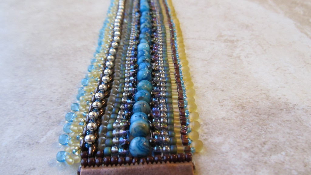 Loomed Cuff by Shirley Moore