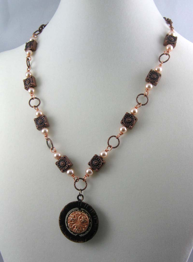 Necklace with Joyful Muse spinner focal
