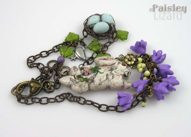 March Hare necklace tangled