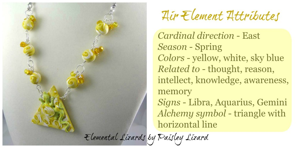 Air Element attributes and necklace