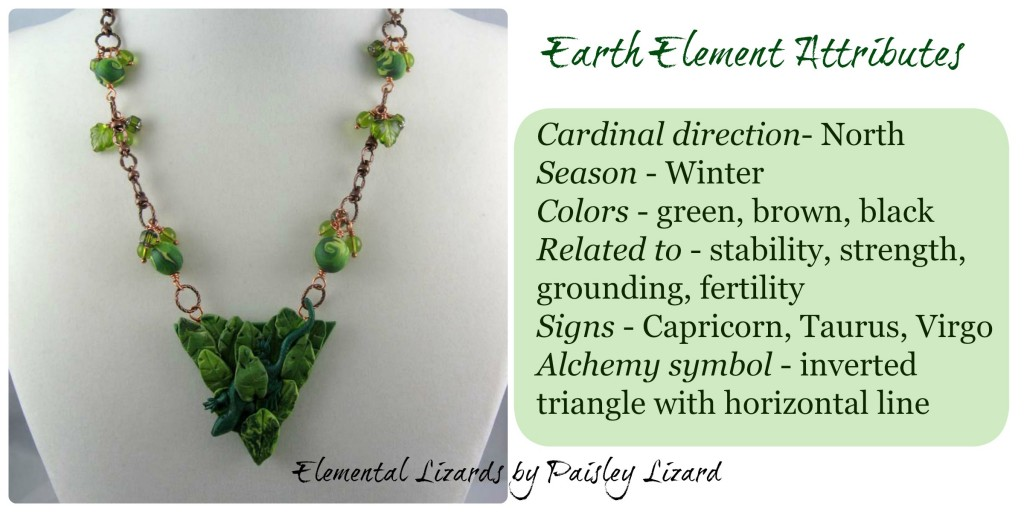Earth Element attributes and necklace