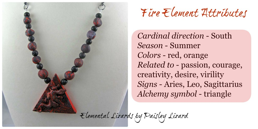 Fire Element attributes and necklace