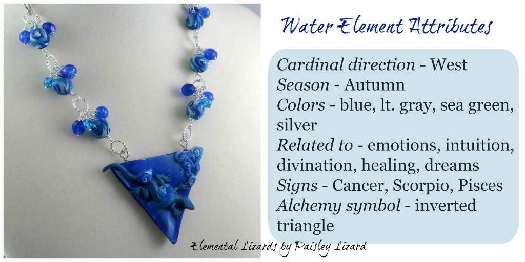 Water Element attributes and necklace