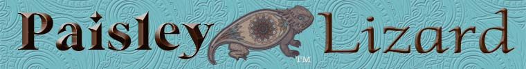 Version 1 of the Paisley Lizard Etsy banner