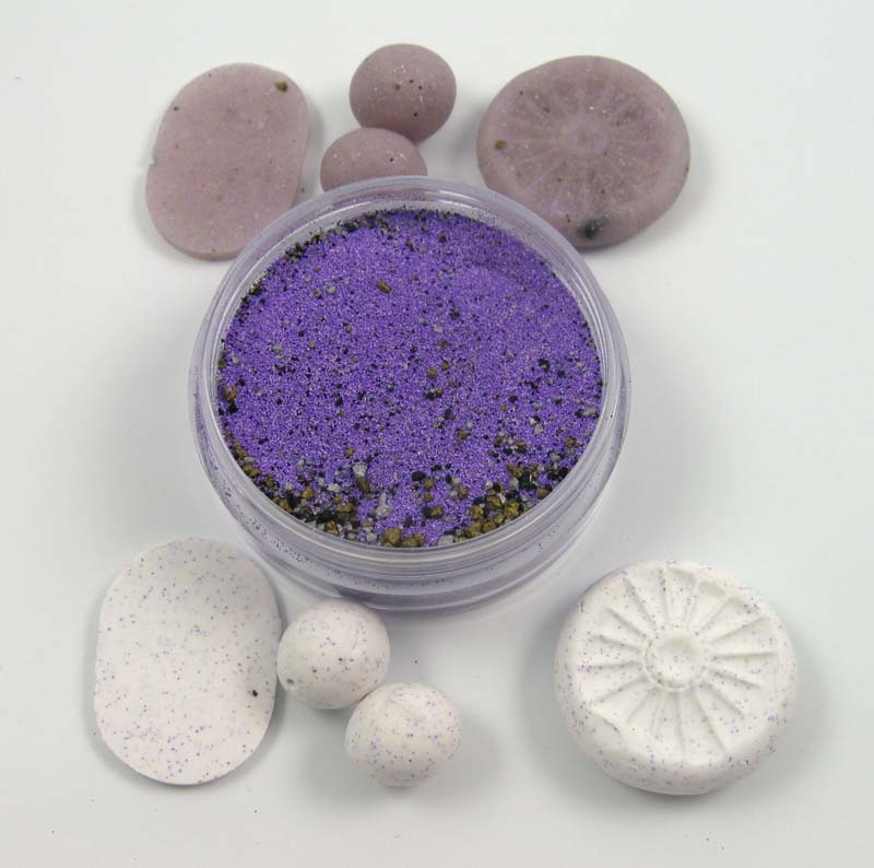 Amethyst powder and beads