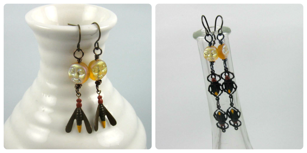 two pair of firefly earrings