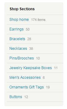 Etsy Shop Section screen snip
