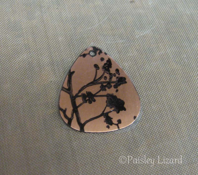 Copper blank with stamped design