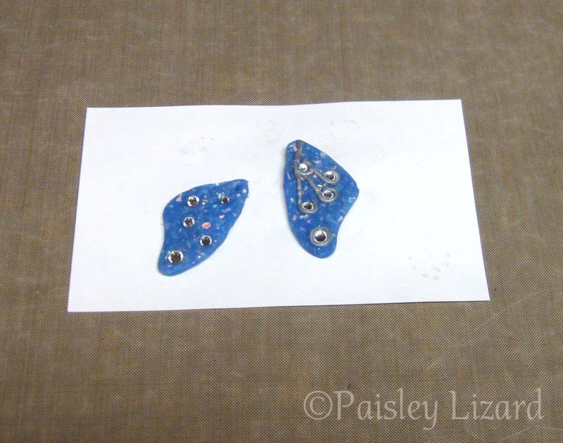 Unfinished polymer clay wings