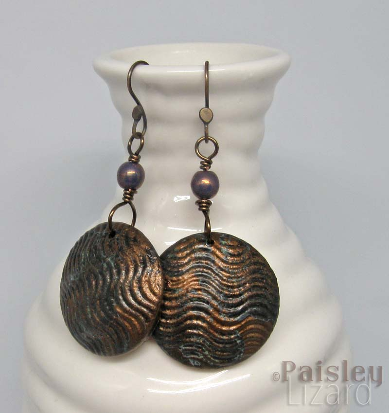Bronze Waves Earrings