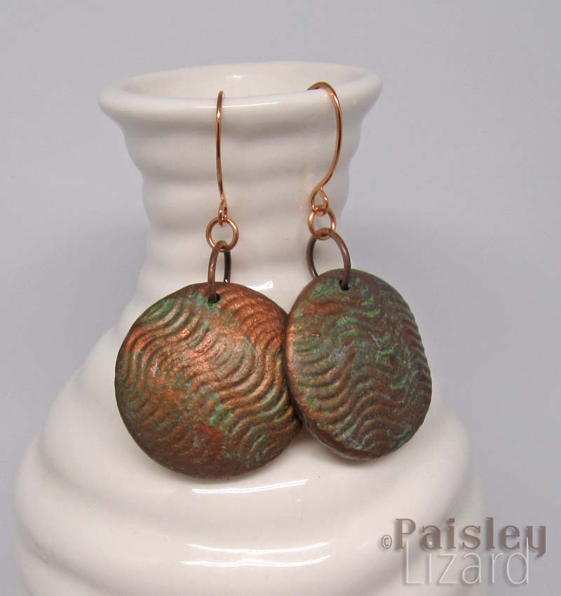 Copper Waves Earrings