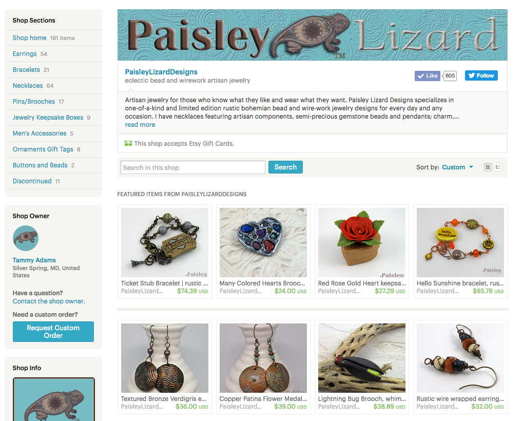 current etsy home layout