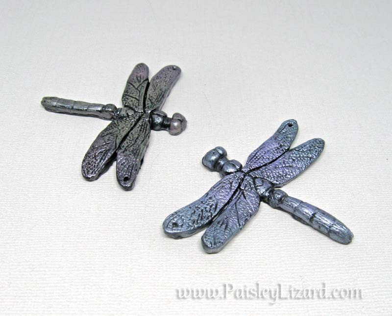 metallic dragonfly pendants