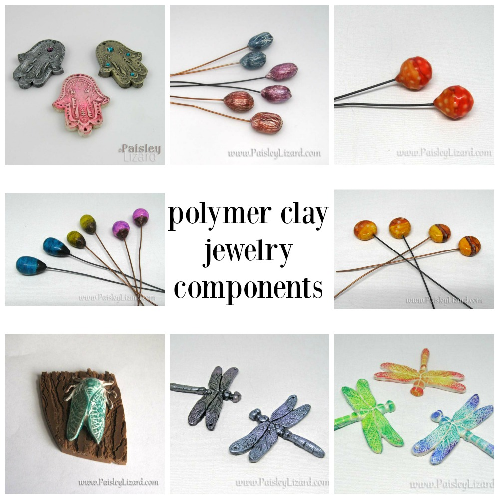 assorted polymer clay jewelry components
