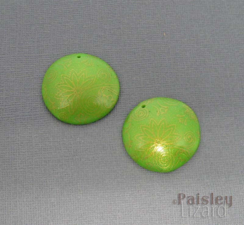 polymer clay earring components