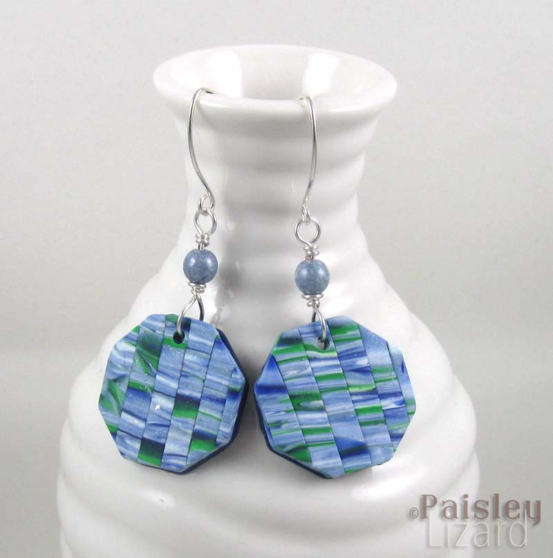 Springtime patchwork earrings