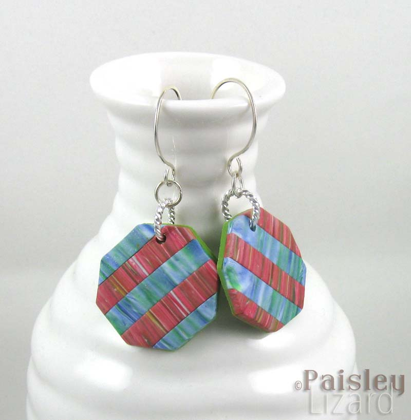 Water lilies patchwork earrings