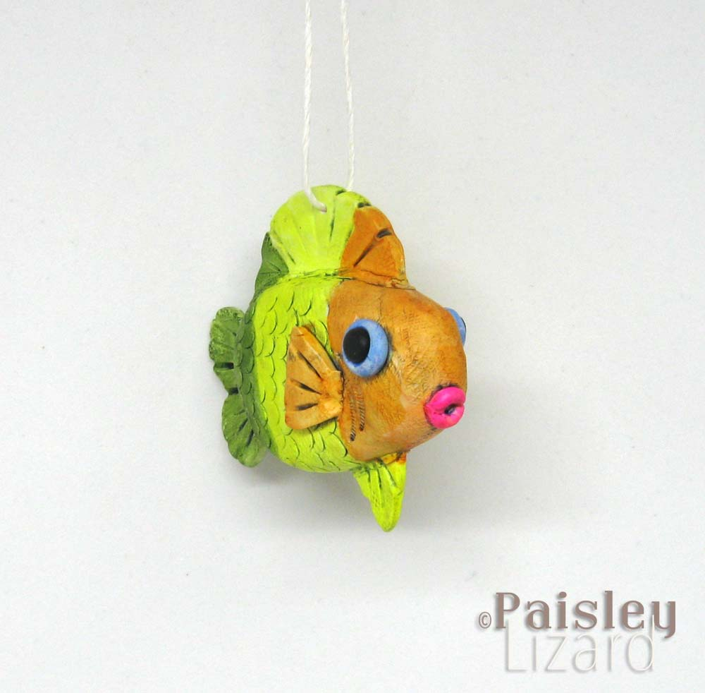 Citrus stripes fish ornament